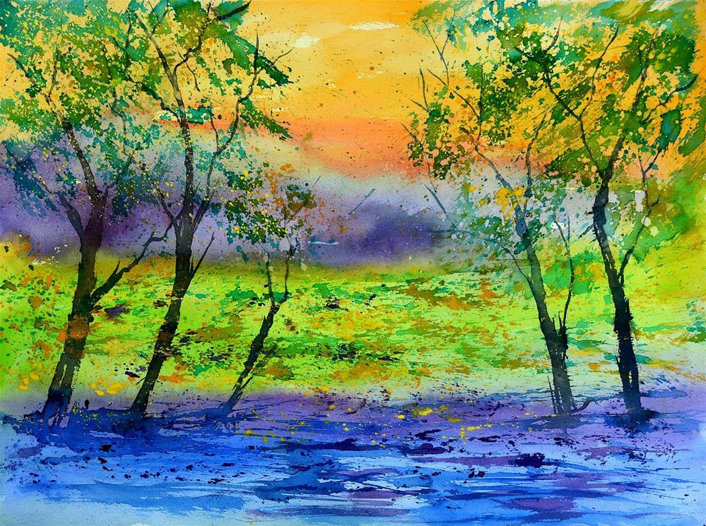 """watercolor"" original fine art by Pol Ledent"
