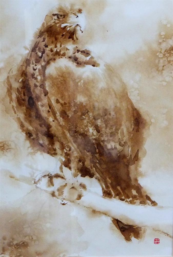 """painting Al Ain 4"" original fine art by Midori Yoshino"
