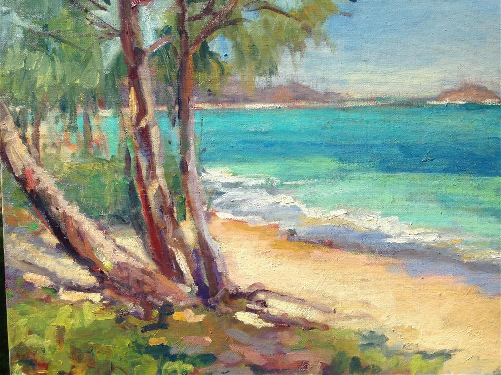 """Waimanalo Beach"" original fine art by Yvonne Manipon"