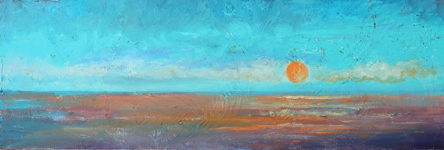 """Sunrise, Seascape Paintings by Amy Whitehouse"" original fine art by Amy Whitehouse"