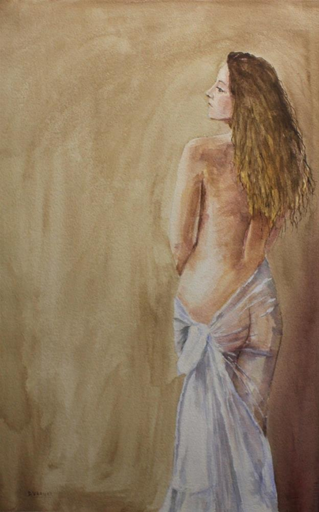 """Draped Nude"" original fine art by Daniel Varney"