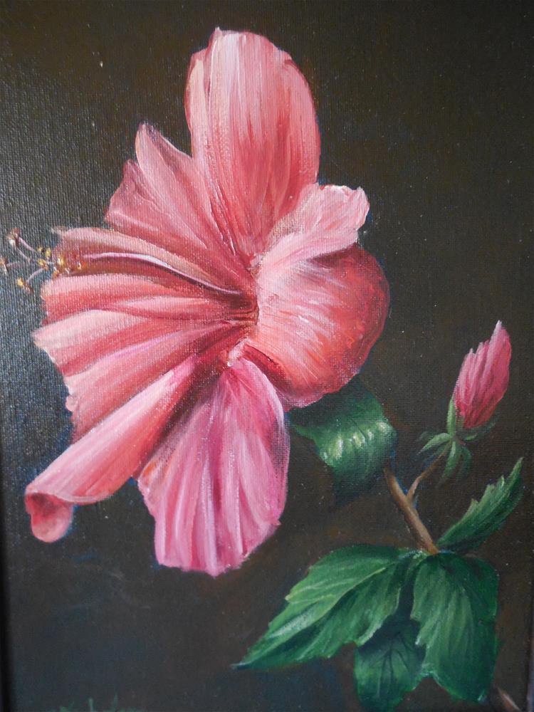 """Hibiscus"" original fine art by Terri Nicholson"