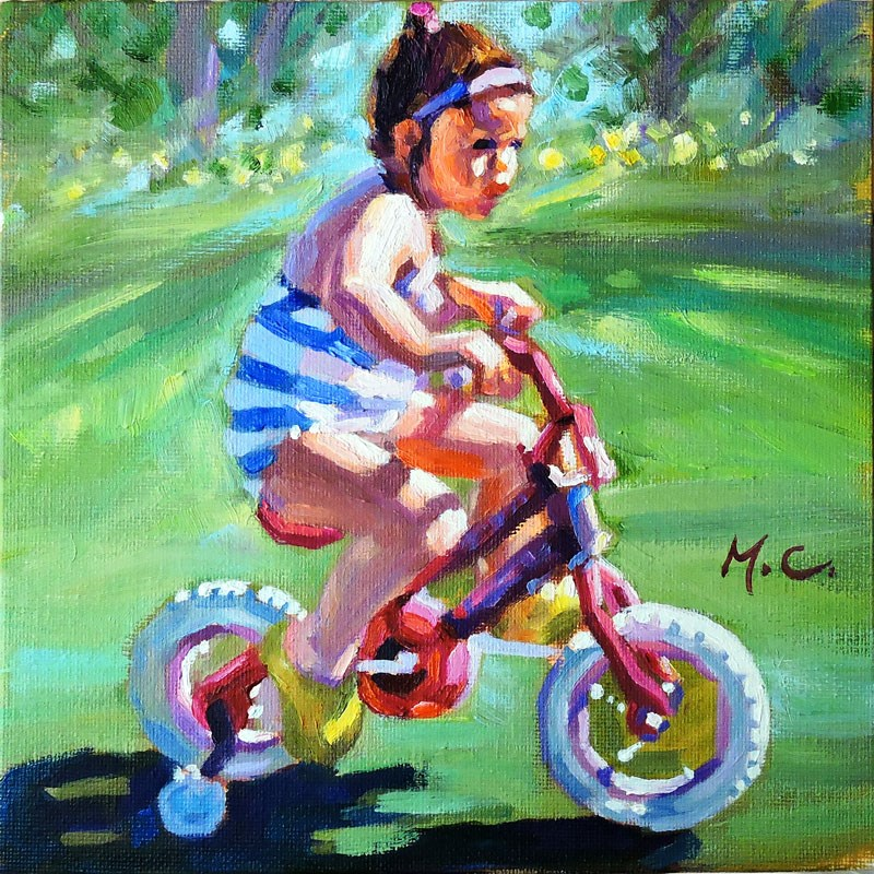 """Cycling"" original fine art by Michelle chen"