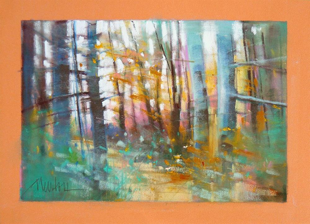 """Forest Light"" original fine art by Barbara Benedetti Newton"