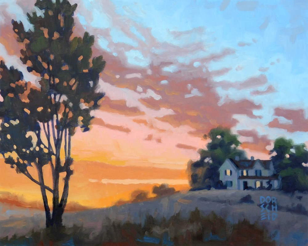 """""""Vermilion Sunset"""" original fine art by Les Dorscheid"""