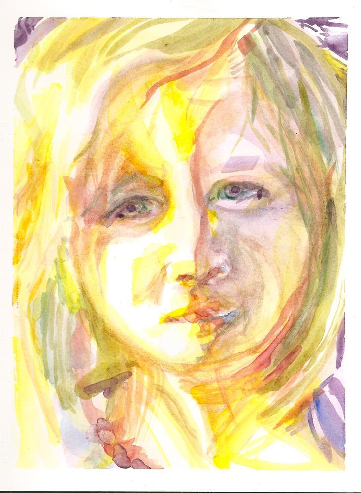 """""""Fountain of Sorrow"""" original fine art by Jean Krueger"""