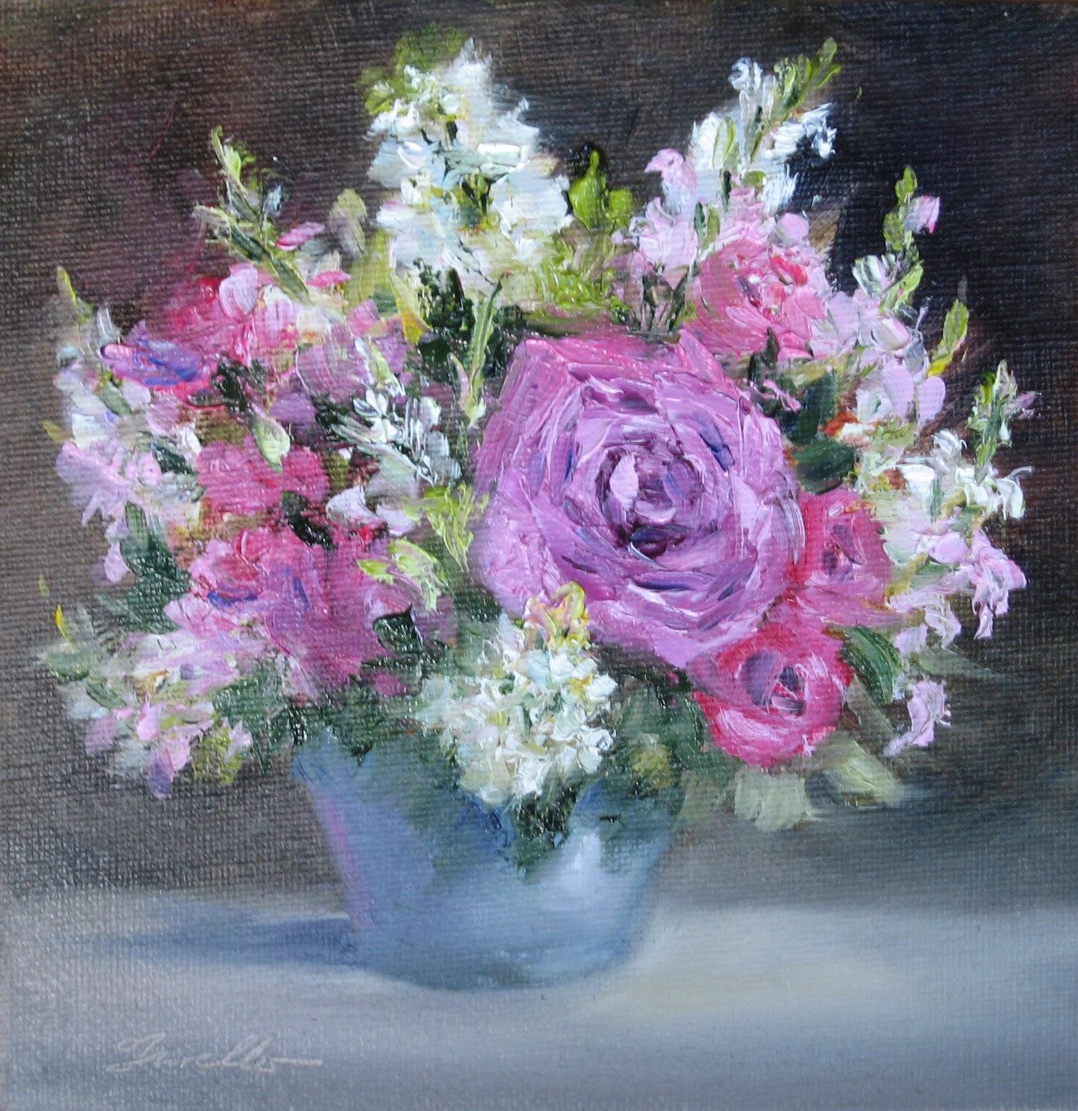 """Flower Study #39"" original fine art by Pat Fiorello"