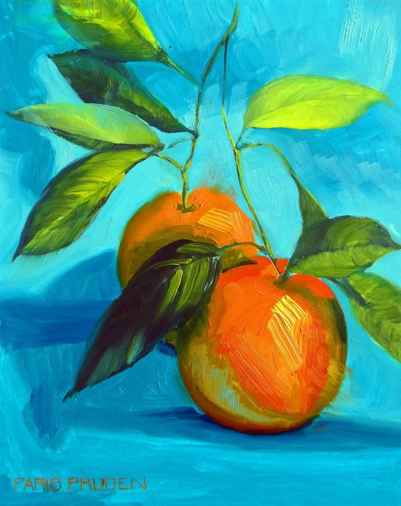 """Home Grown Oranges"" original fine art by Nancy Paris Pruden"