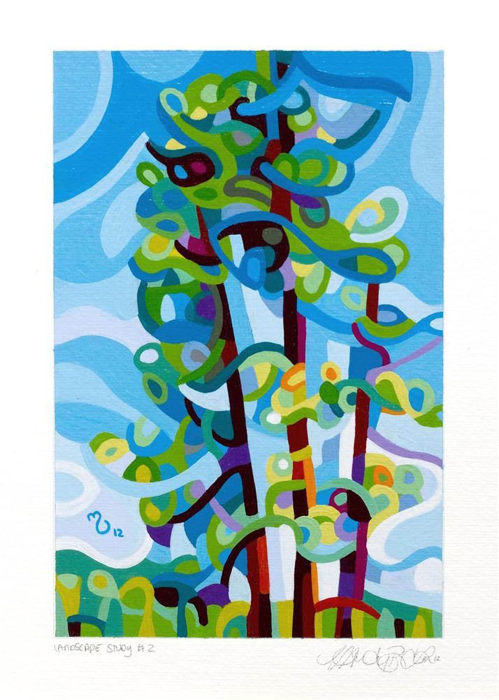 """Landscape Study #2"" original fine art by Mandy Budan"
