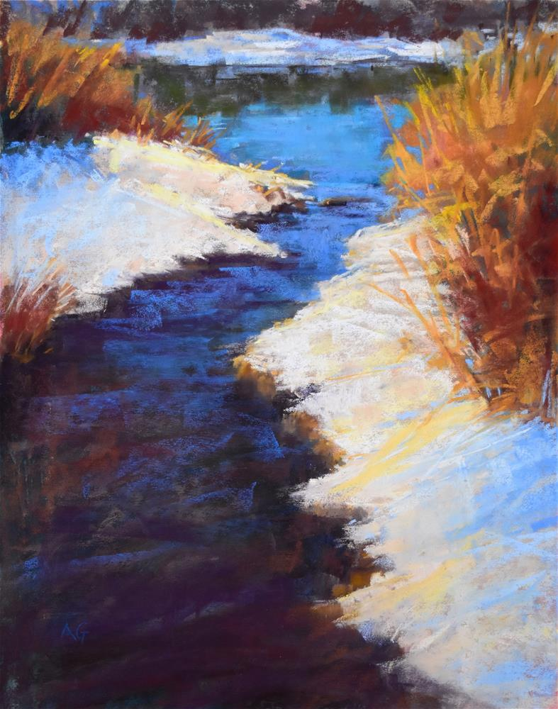"""Sun-kissed snow"" original fine art by Alejandra Gos"