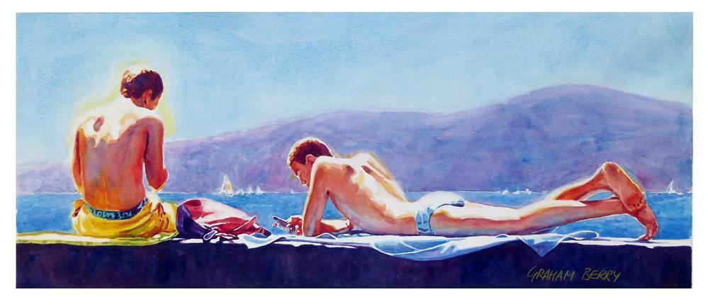 """Sunshine boys."" original fine art by Graham Berry"