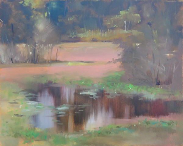 """Cooks Hope Pond"" original fine art by Beth Bathe"