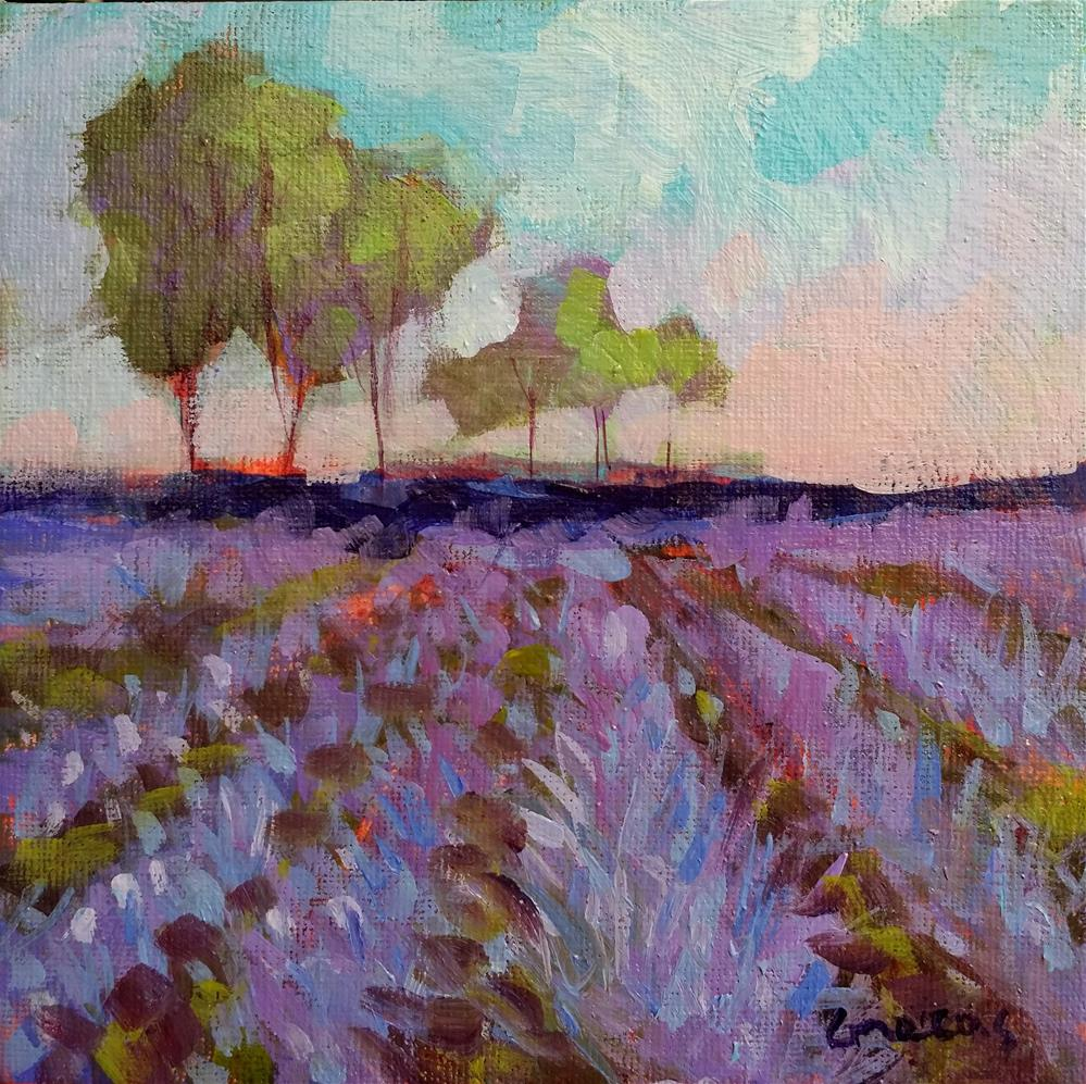 """lavender field"" original fine art by salvatore greco"