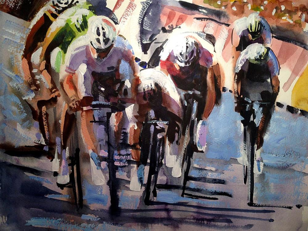 """Short Sharp Sprint"" original fine art by Shirley Peters"