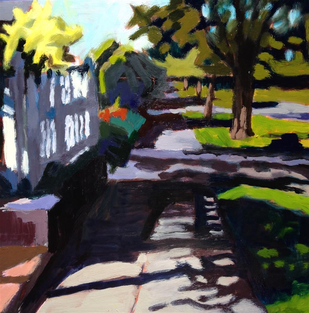 """My Sidewalk"" original fine art by Pamela Hoffmeister"