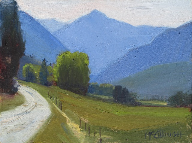 """A Cool Day in the Mountains"" original fine art by Susan McCullough"