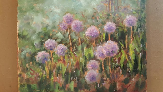 """Illusions of Allium"" original fine art by Tammie Dickerson"