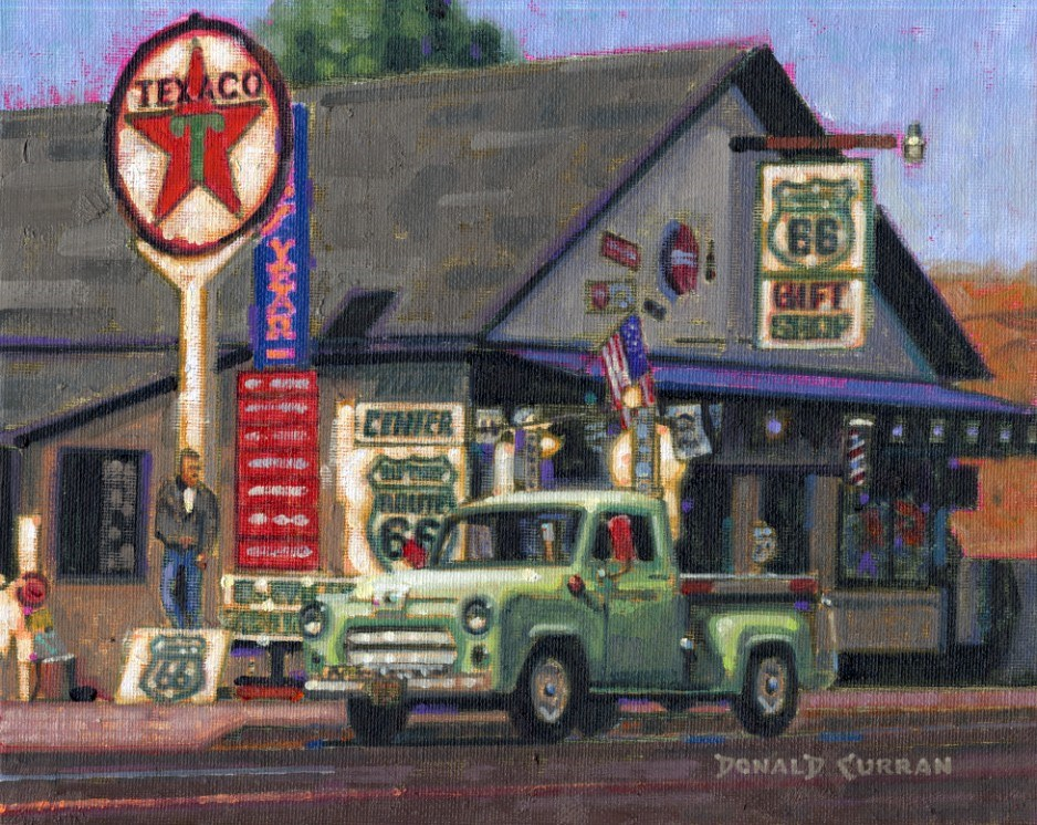 """Route 66"" original fine art by Donald Curran"