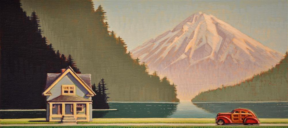 """Lakehouse"" original fine art by Robert LaDuke"