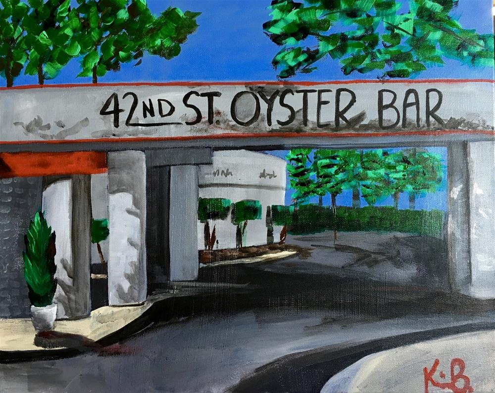 """30 Paintings in 30 Days - #1 42St. Oyster Bar"" original fine art by Kimberly Balentine"