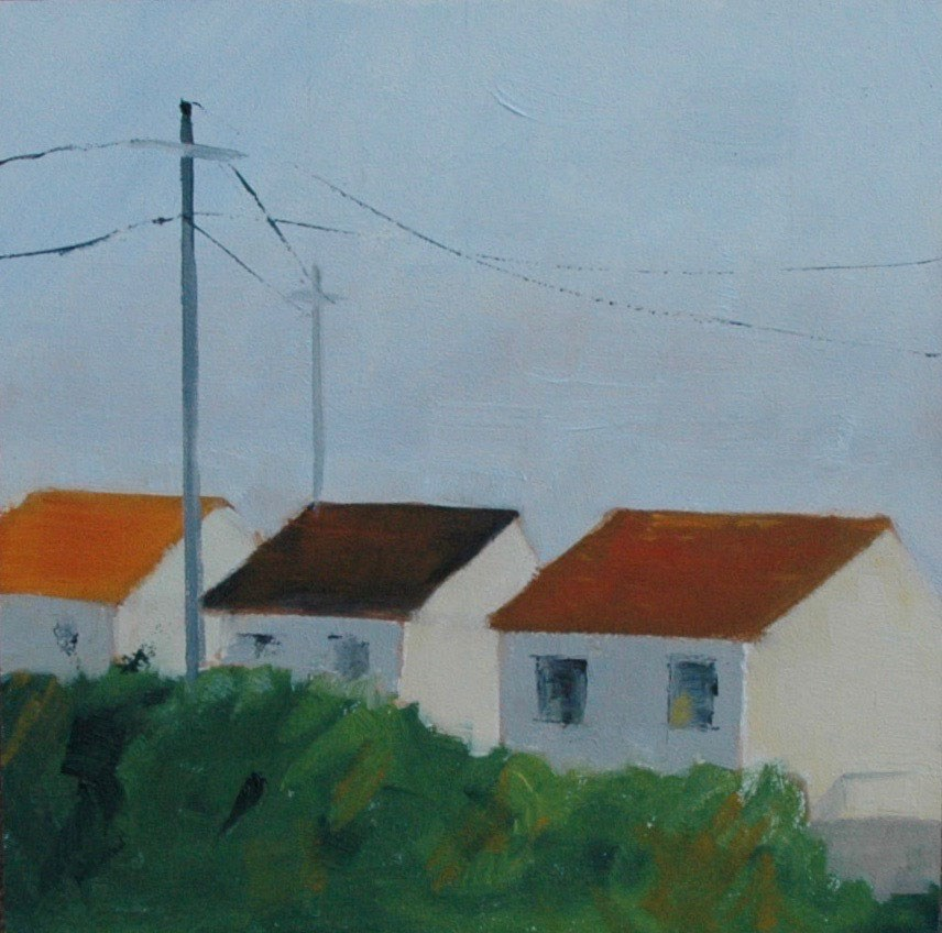 """CAPE COD COTTAGES"" original fine art by Linda Popple"