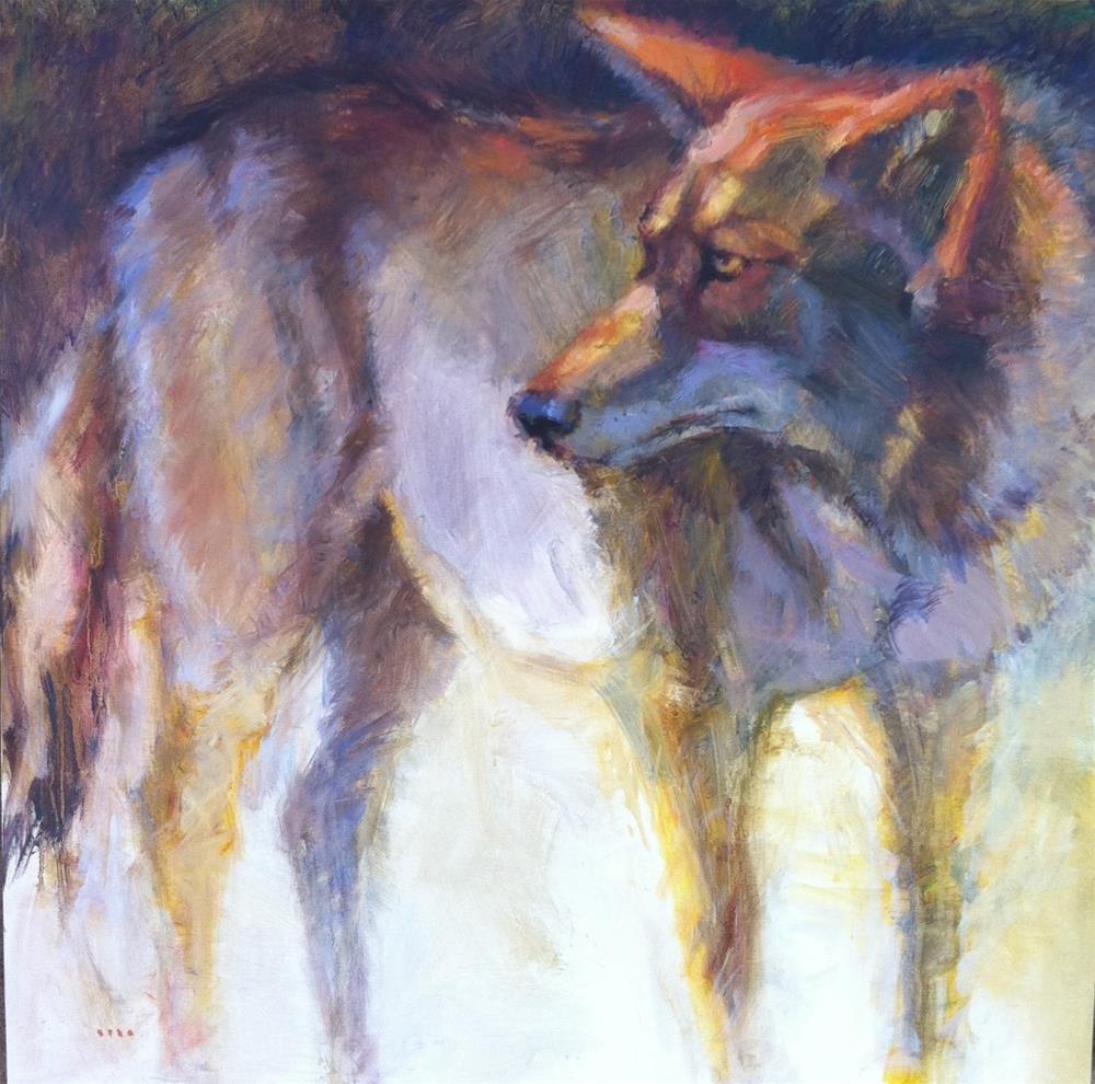 """Coyote"" original fine art by V.... Vaughan"