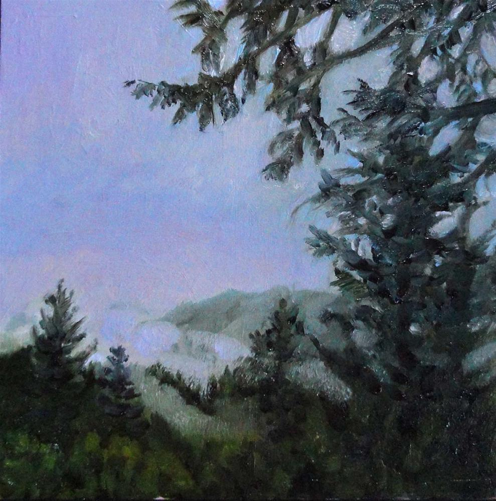 """Fog In The Gulch"" original fine art by Cietha Wilson"