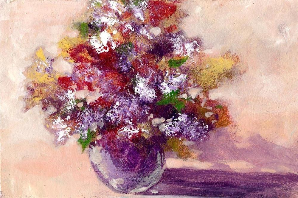 """Spring Floral"" original fine art by Margie Whittington"