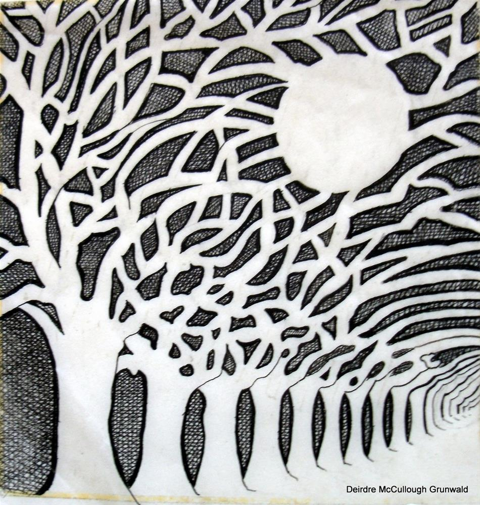 """Night Trees"" original fine art by Deirdre McCullough Grunwald"