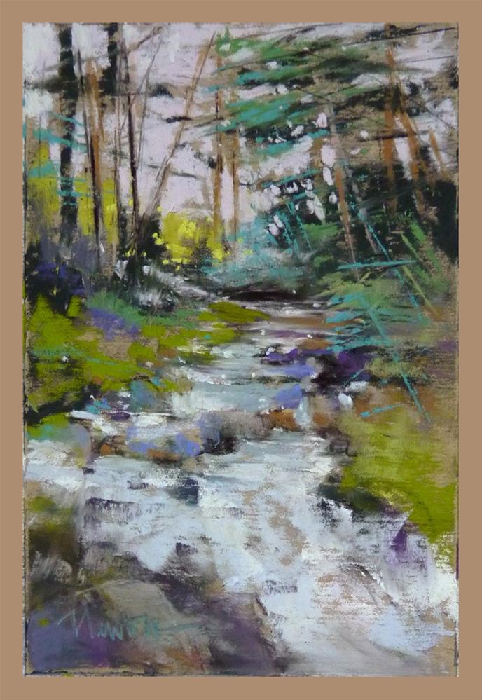 """Study for Spring Stream"" original fine art by Barbara Benedetti Newton"