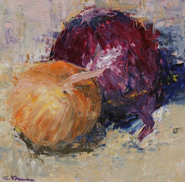 """""""Fractured Onions"""" original fine art by Anna Vreman"""