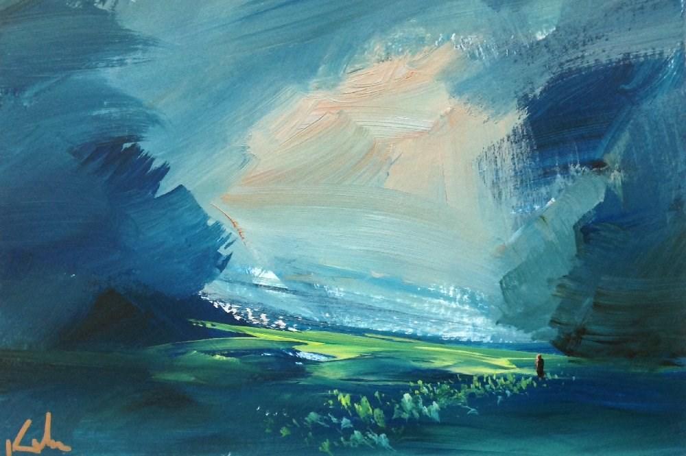 """Stepped Serene"" original fine art by David Kuhn"