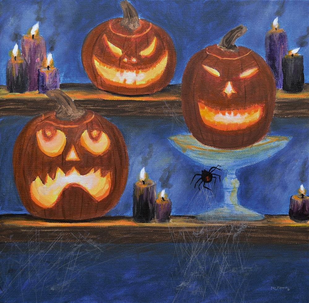 """Halloween Display"" original fine art by Ken Figurski"