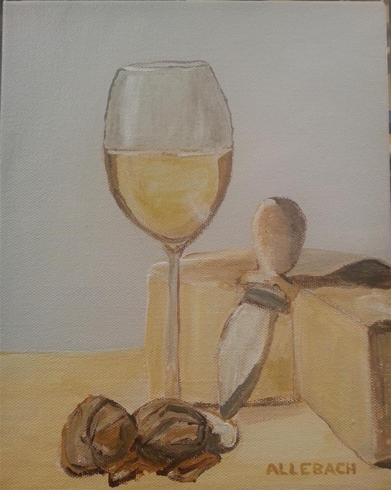 """White Wine walnuts"" original fine art by Jo Allebach"
