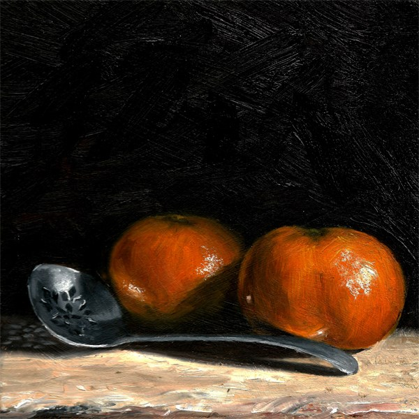 """Clementines with pickle spoon"" original fine art by Peter J Sandford"