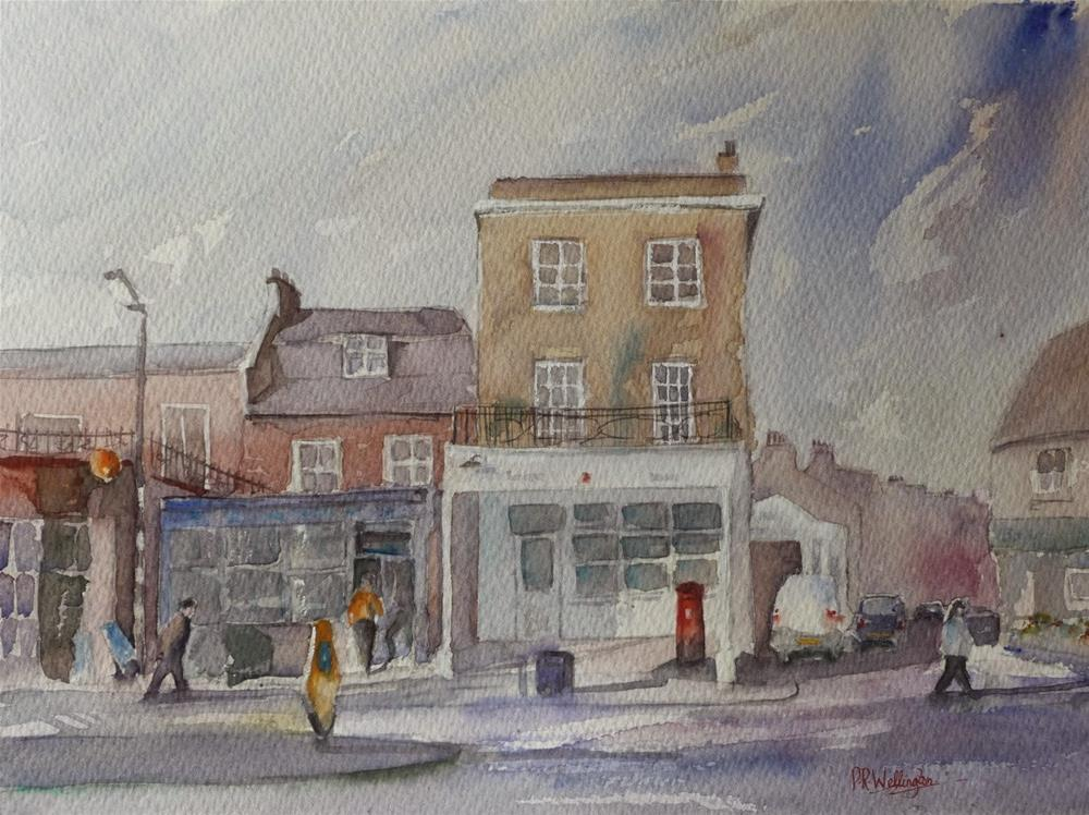 """Dulwich Village Post Office"" original fine art by Peter Wellington"