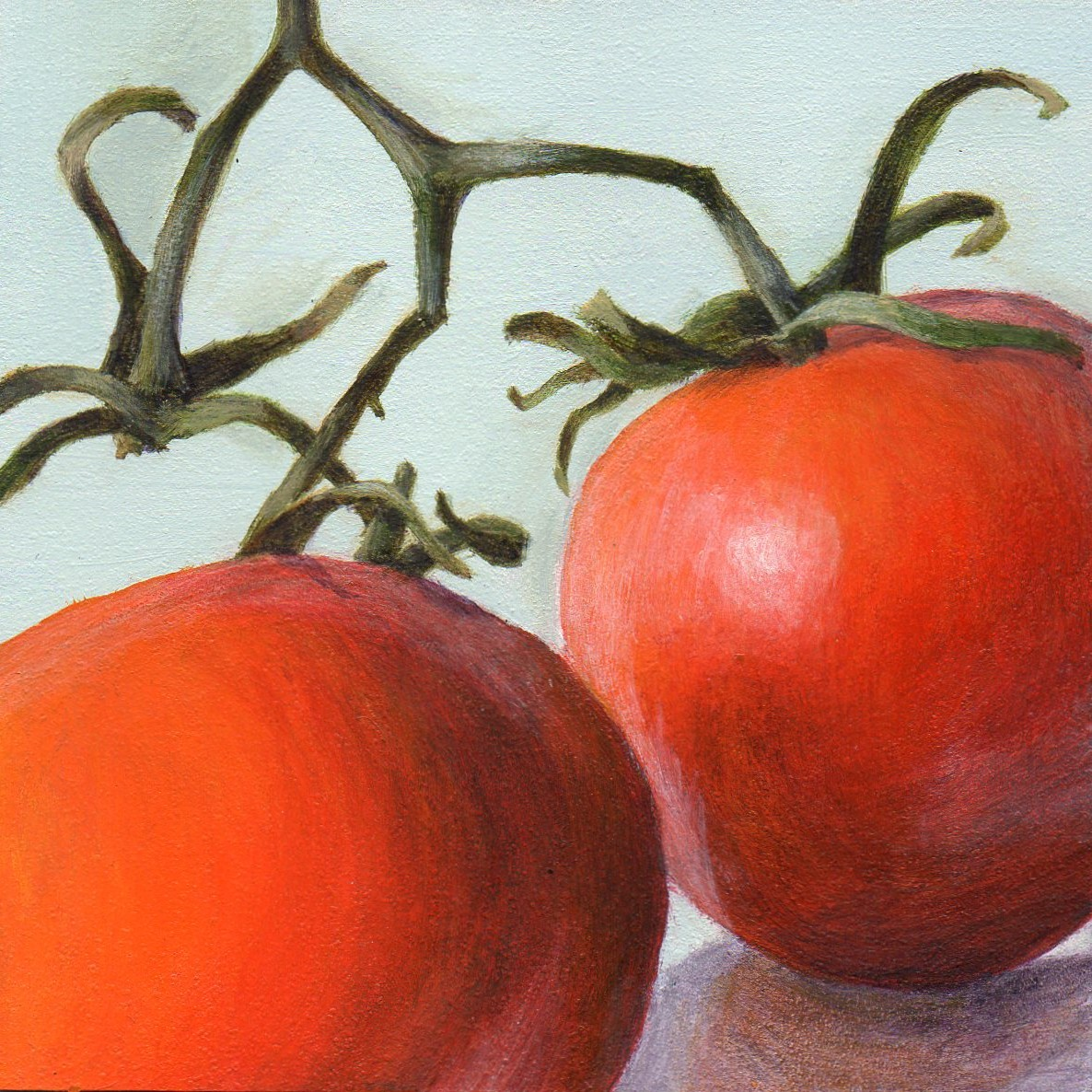 """Fruits of Summer"" original fine art by Debbie Shirley"