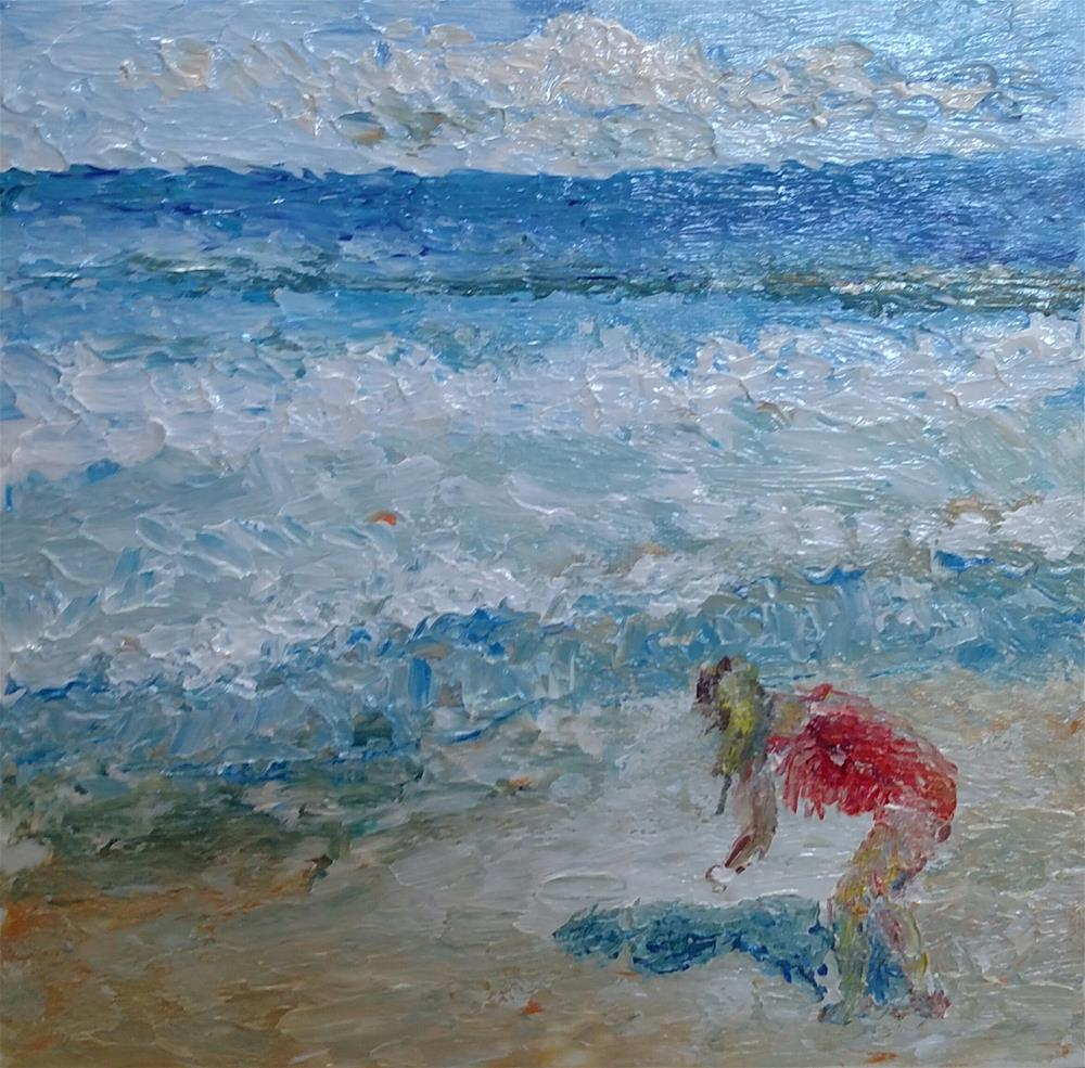 """Tybee Island Girl (SOLD)"" original fine art by S. Lynne Price"