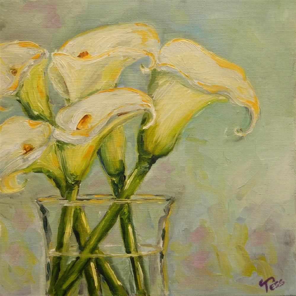 """Calla Lilies"" original fine art by Tess Lehman"
