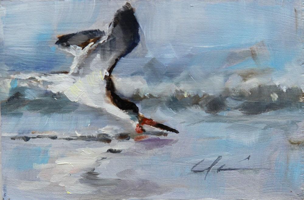 """Sunset Skimmer"" original fine art by Clair Hartmann"