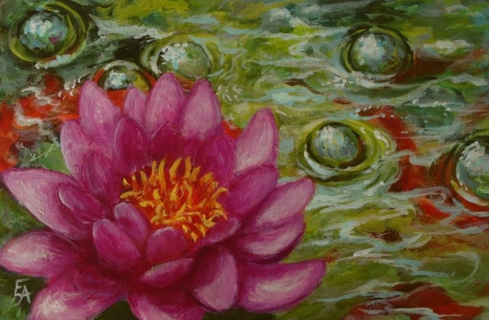 """Life, Like a Water Bubble-(Framed) half price"" original fine art by Elizabeth Elgin"