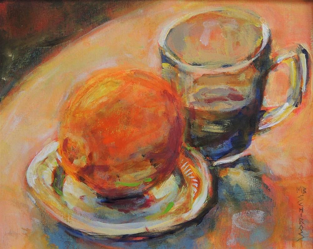 """Orange Tea"" original fine art by Mary Schiros"