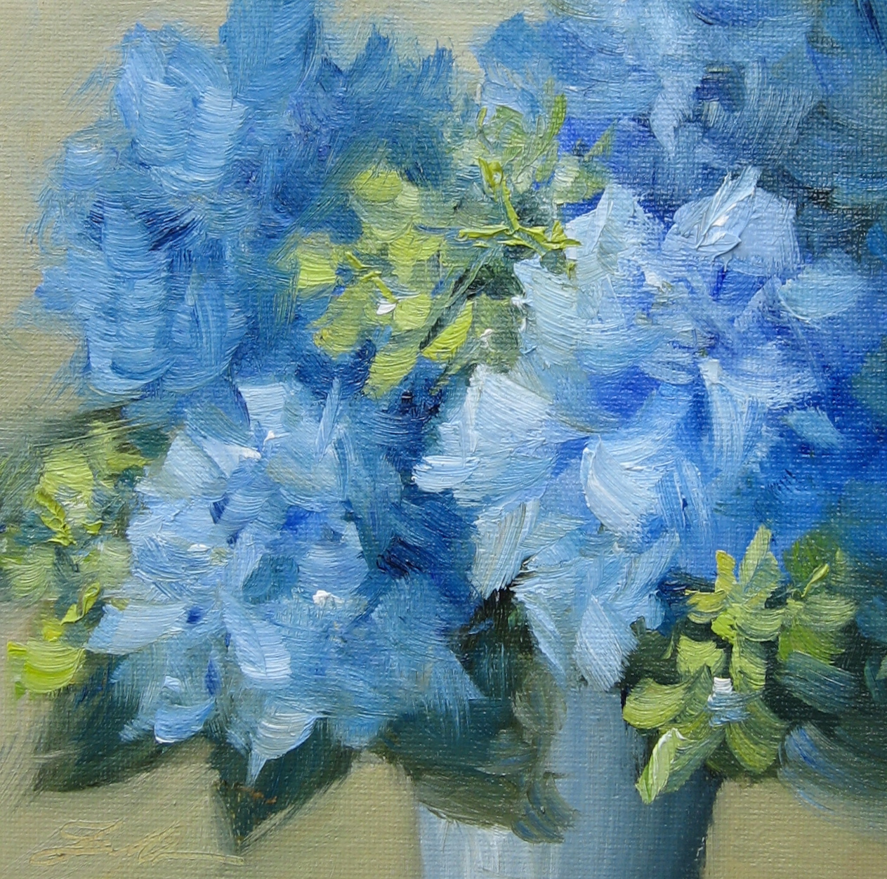 """Hydrangea Fun"" original fine art by Pat Fiorello"