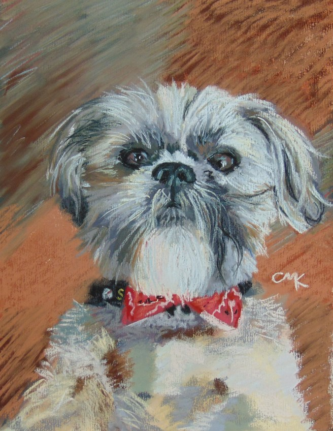 """Wicket"" original fine art by Catherine Kauffman"
