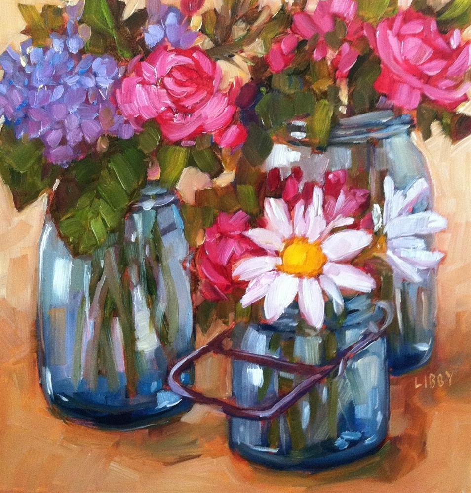 """Daisies"" original fine art by Libby Anderson"