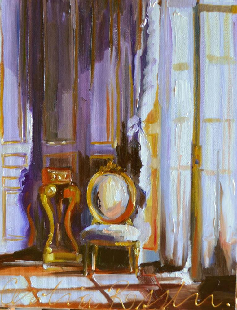 """CHATEAUX WINDOW"" original fine art by Cecilia Rosslee"