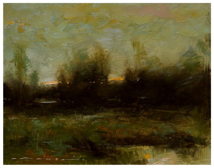 """Evening Light"" original fine art by Angel Angelov"