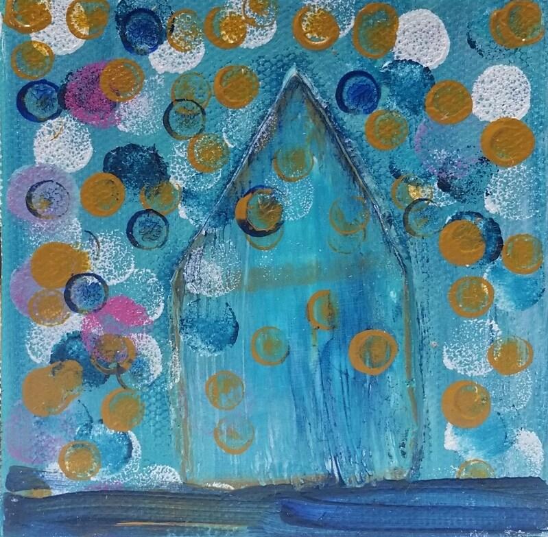 """House # 9"" original fine art by Christy Tremblay"