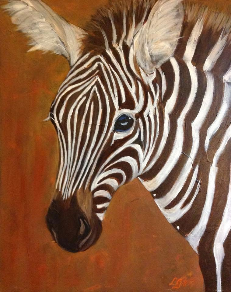 """Zeeeebra!"" original fine art by Lyn Gill"