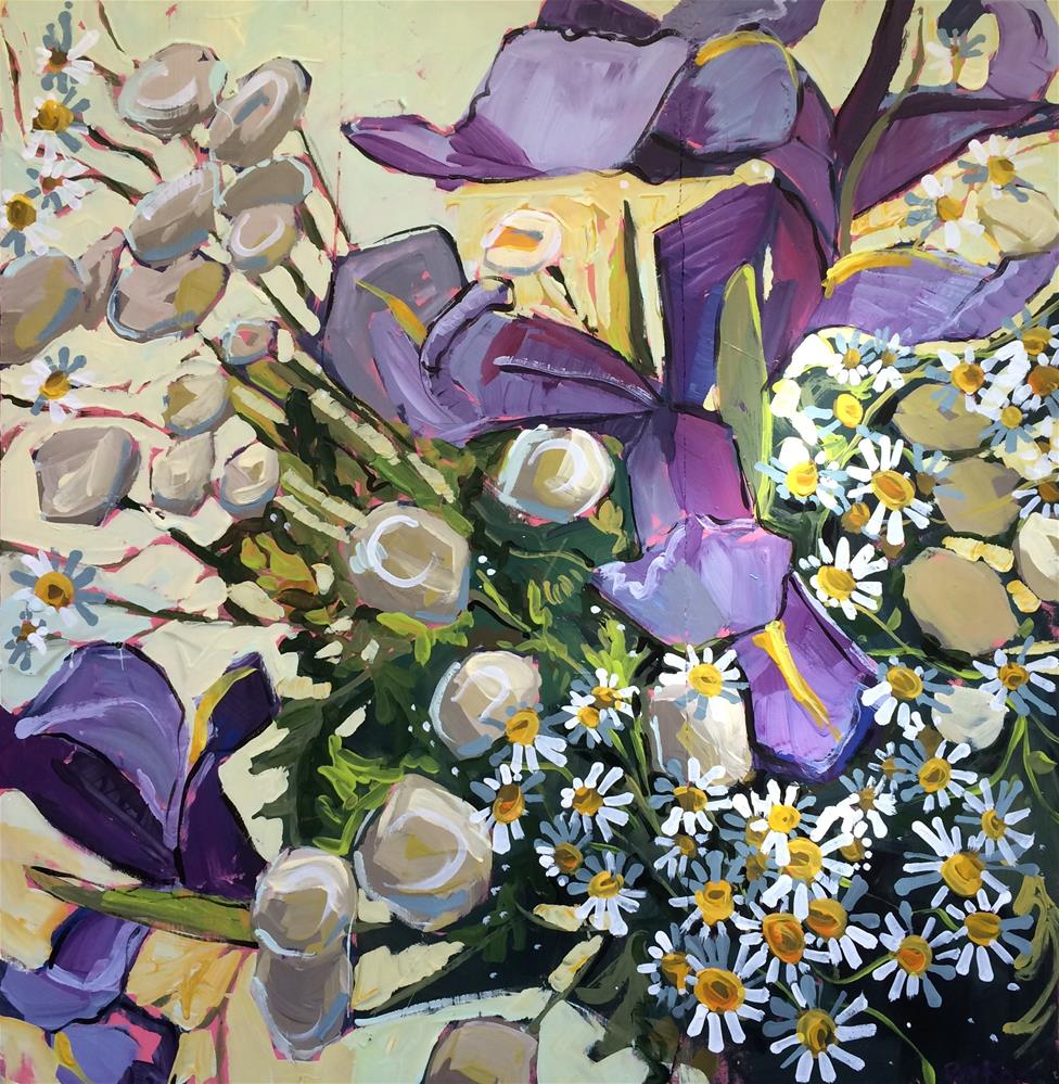 """Spring Irises"" original fine art by Teddi Parker"